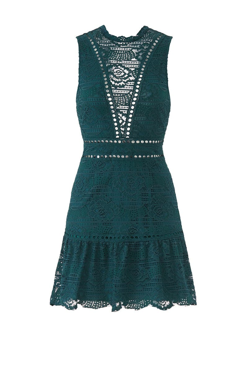 Emerald Rosemary Lace Dress By Saylor For 30 35 Rent