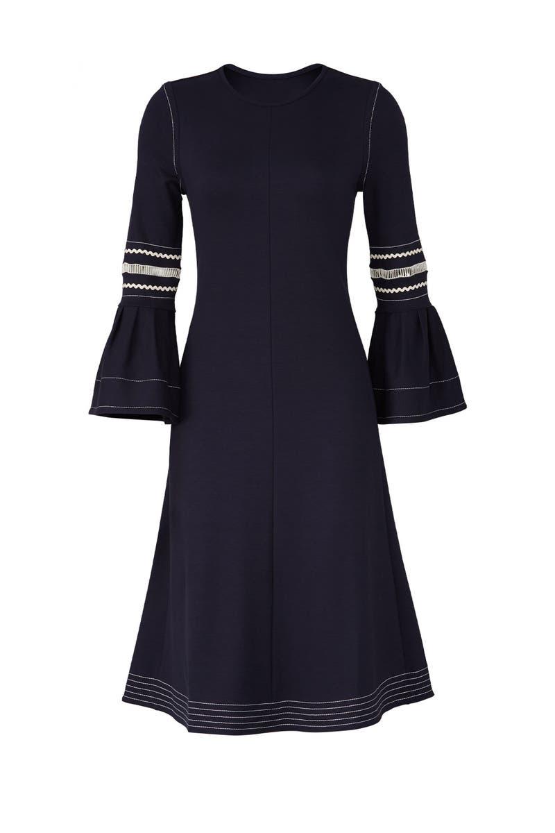 8d5d2022ec See by Chloe Abyss Blue Jersey Dress