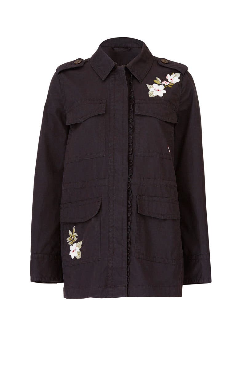 7eb2f5a362f9 Floral Army Jacket by kate spade new york for $70   Rent the Runway