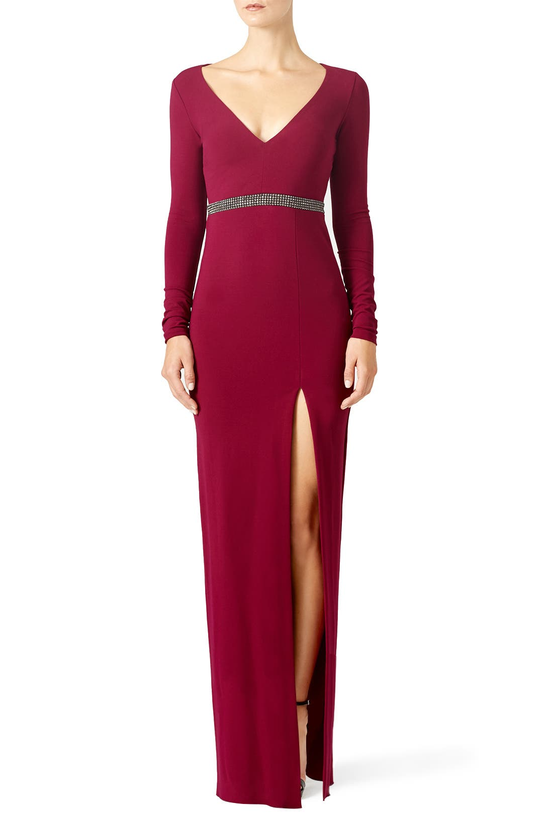 Red Berry Gown By Nicole Miller For
