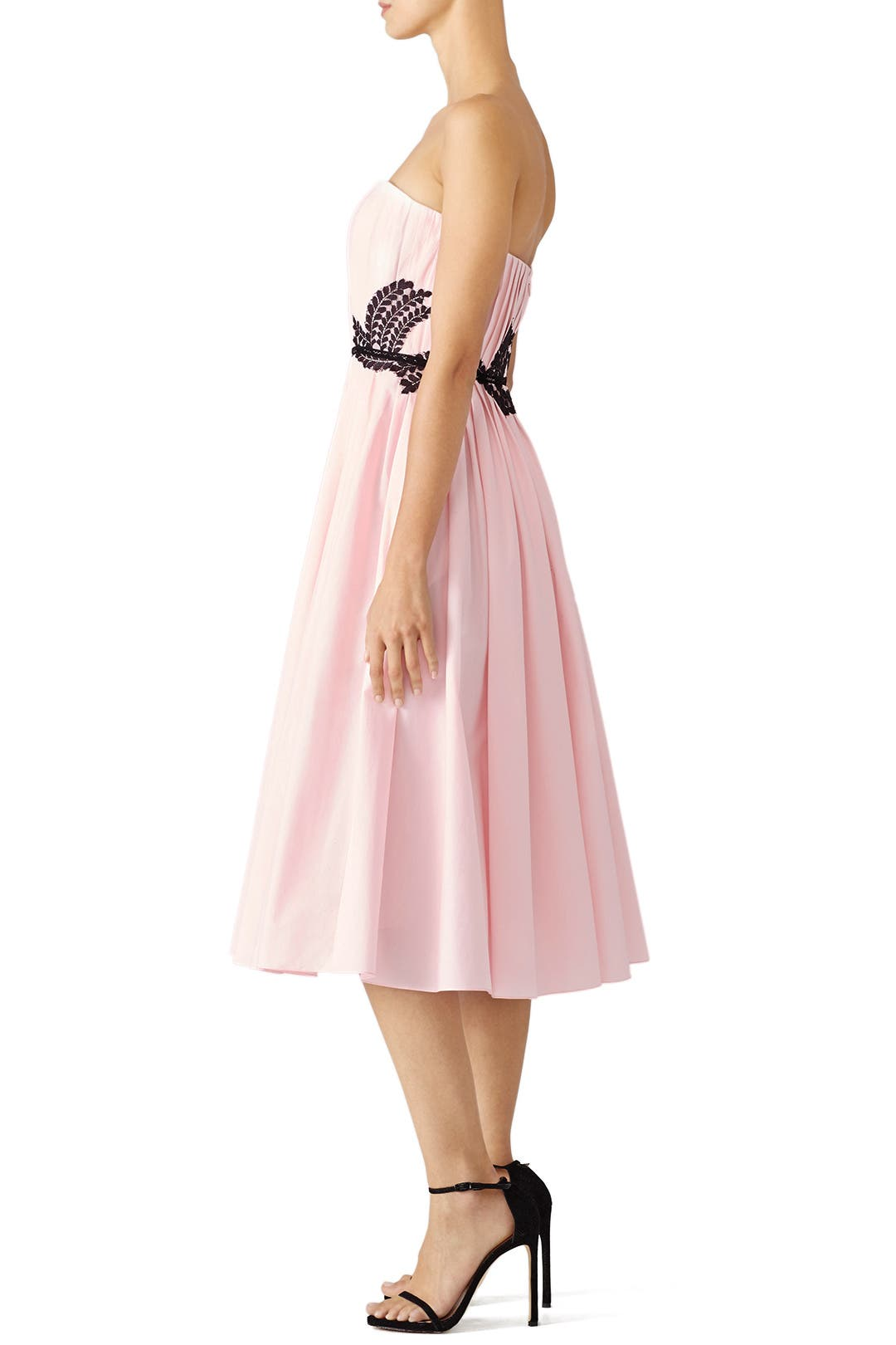 Pink Embroidered Midi Dress by J. Mendel for $340 | Rent the Runway