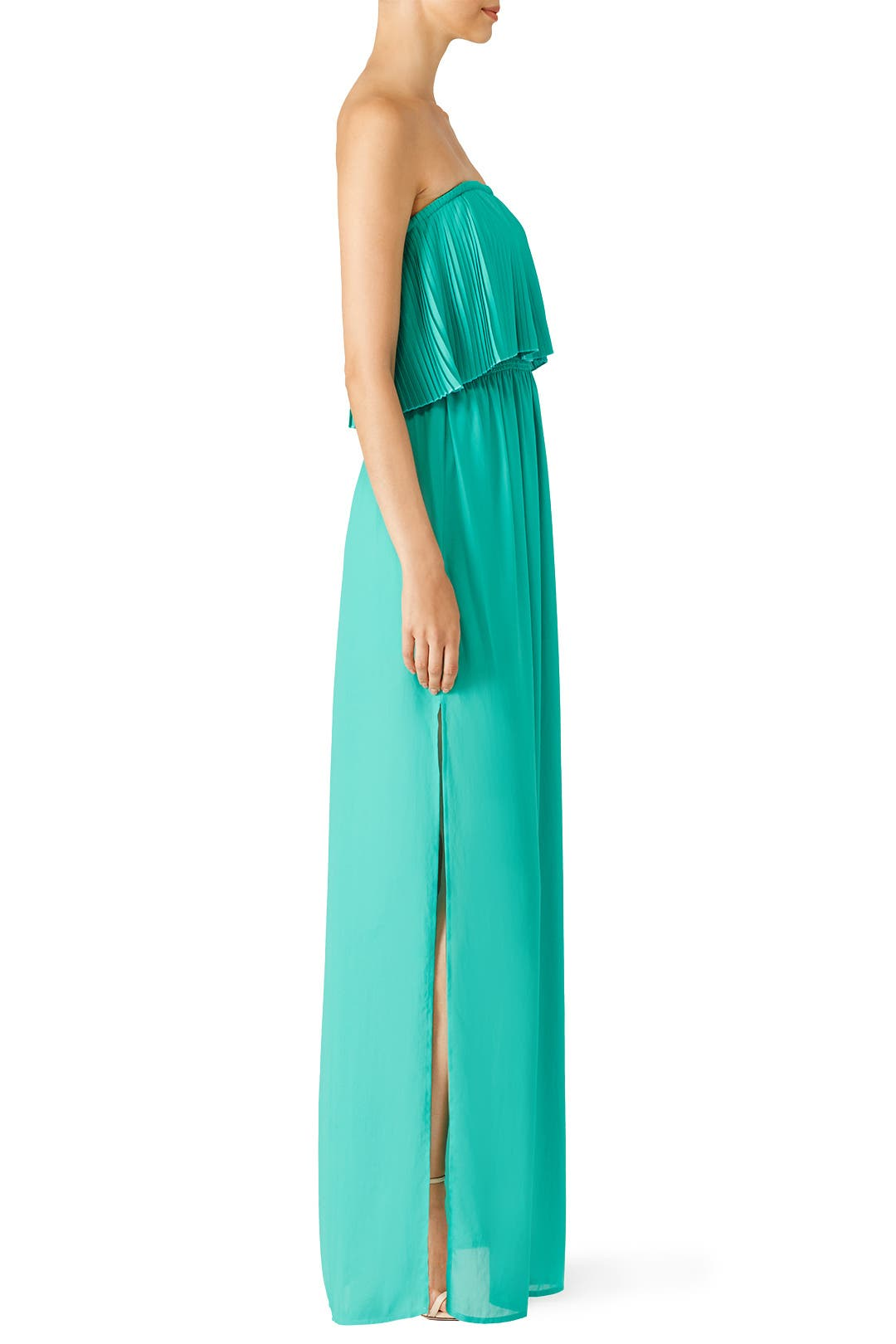 Green Linda Gown by BCBGMAXAZRIA for $64 | Rent the Runway
