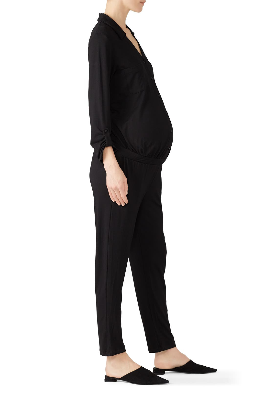 8b00cbbc5afa0 Ashlyn Maternity Jumpsuit by Isabella Oliver for $35 | Rent the Runway