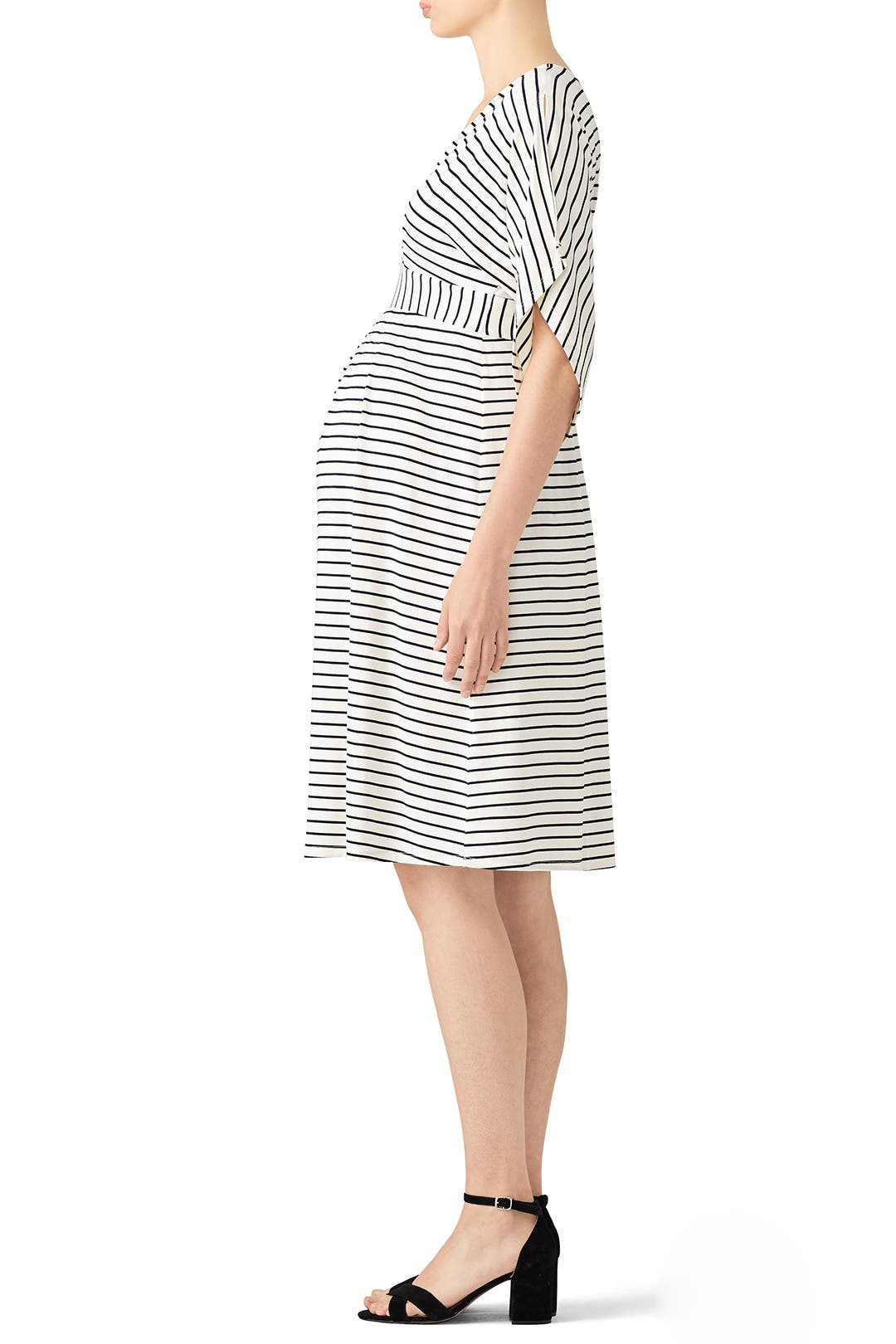 570226ef426 Ivory Kimono Maternity Dress by Ingrid & Isabel for $30 | Rent the Runway