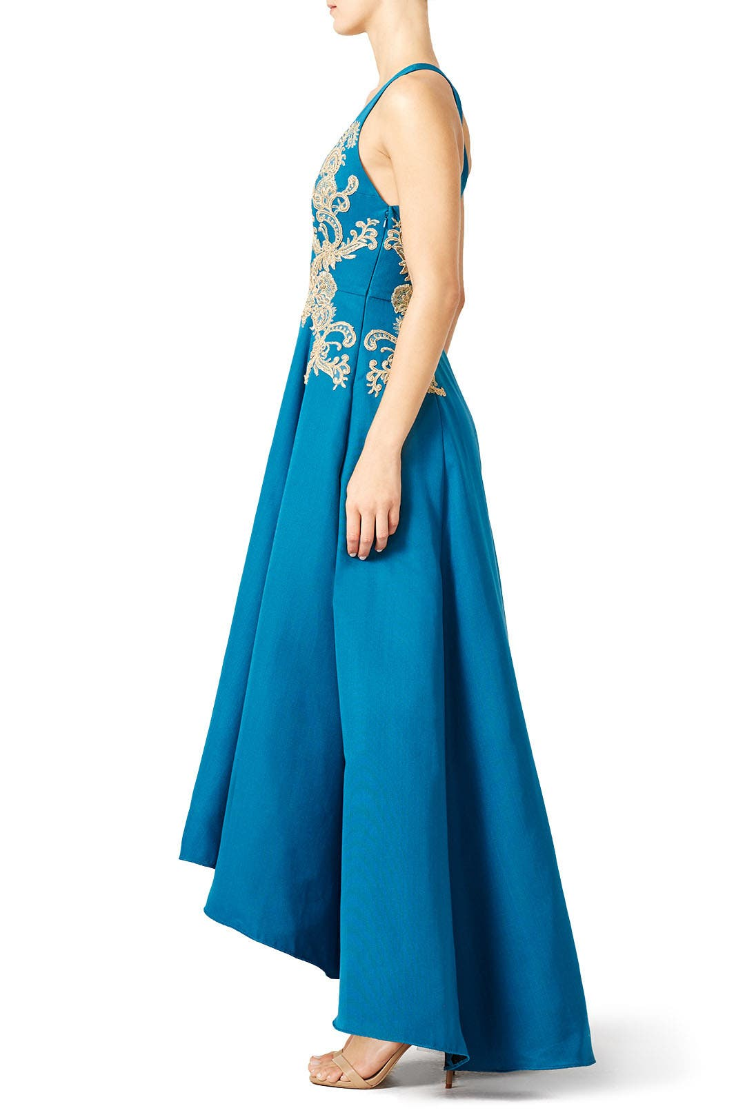 f16ce489 Gilded Royal Teal Gown by Marchesa Notte for $97 | Rent the Runway