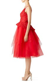 Red Rue Dress by nha khanh
