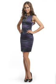 Purple Stretch Power Dress by Versus by Versace