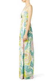 Flora Stone Tie Front Maxi Dress by Mara Hoffman