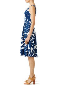 Navy Brush Print Dress by Slate & Willow