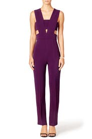 Plum Jumpsuit by Cushnie Et Ochs