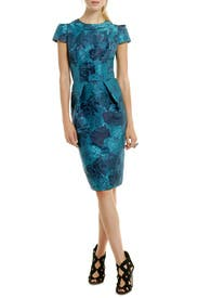 Teal Envelope Dress by Carmen Marc Valvo