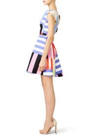 Multi Stripe Kite Bow Back Dress by kate spade new york