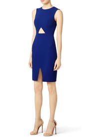 Cobalt Oblique Dress by BCBGMAXAZRIA