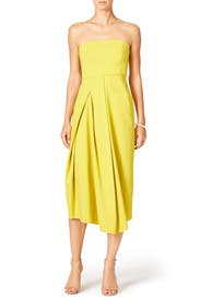 Yellow Midi Dress by Tibi