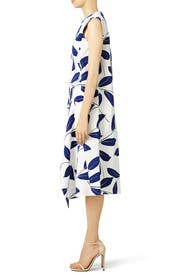 Blue Olive Branch Dress by Marni