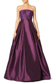 Burgundy Belle Gown by ML Monique Lhuillier