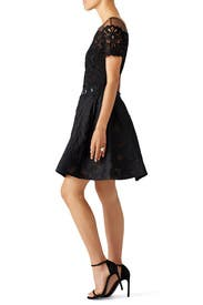 Black Brocade Cocktail Dress by Marchesa Notte