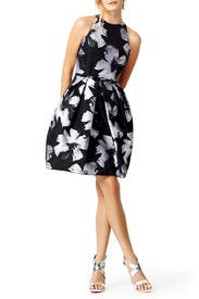Racing Florals Dress by Carmen Marc Valvo
