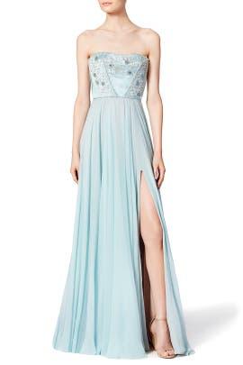 Nigella Blue Gown by Reem Acra