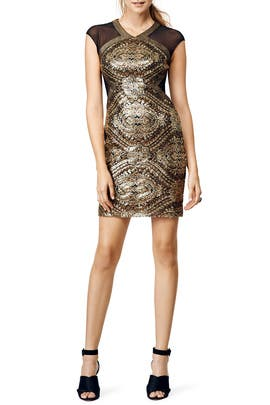 Eyes of Gold Dress by Badgley Mischka