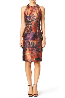 Paprika Floral Sheath by Carmen Marc Valvo