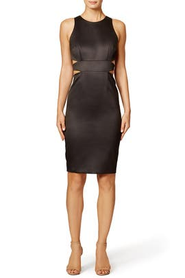 Black Wax Dress by Cynthia Rowley