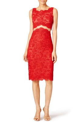 Reem Acra - Red Keira Sheath