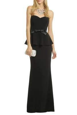 Rosalind Peplum Gown by Badgley Mischka