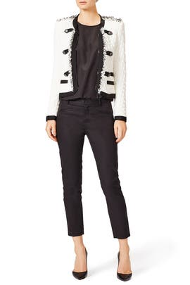 White Lana Tweed Jacket by Rebecca Taylor