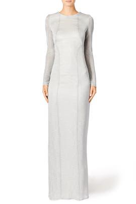 Silver Streak Gown by GALVAN