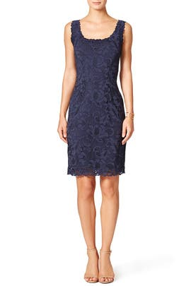 Scoop Lace Sheath by Josie Natori