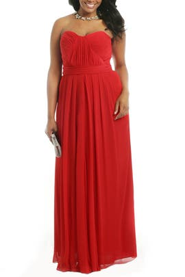 Lipstick Red Gown by Badgley Mischka