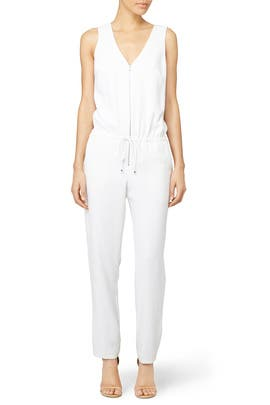 White Fauve Jumpsuit by Trina Turk