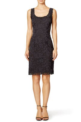 Josie Natori - Black Scoop Lace Sheath