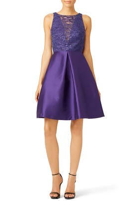 Purple Mikado Dress by ML Monique Lhuillier