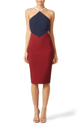 Colorblock Riza Dress by Elizabeth and James