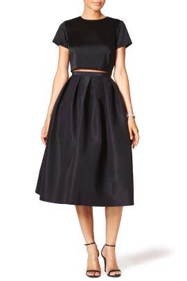 Black Essential Skirt by Tibi