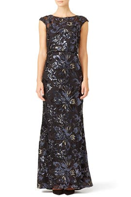 Badgley Mischka - Midnight Swirl Gown
