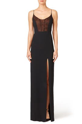 Vicky Slit Gown by Narciso Rodriguez