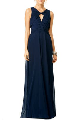 Navy Petunia Gown by Badgley Mischka