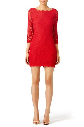 Red Zarita Sheath by Diane von Furstenberg