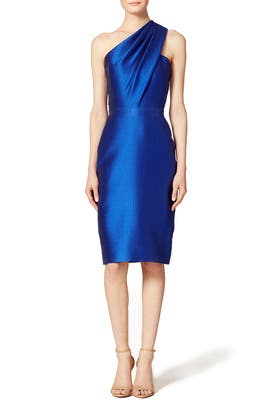Sleek Cobalt Sheath by ML Monique Lhuillier