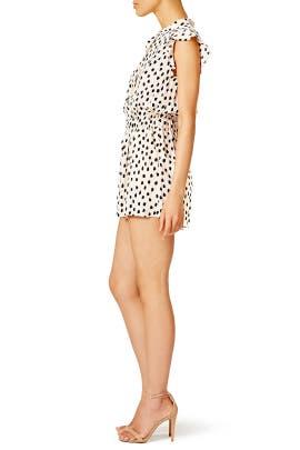 Leopard Dot Crepe Romper by kate spade new york