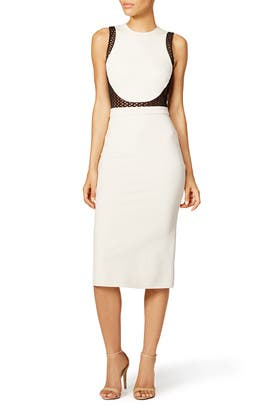 Macrame Contrast Dress by David Koma