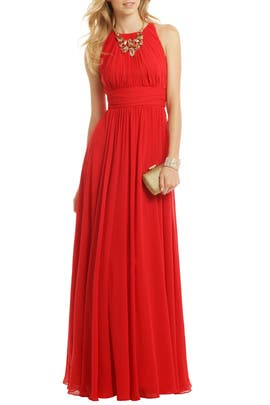 Badgley Mischka - Ruby Red Gala Gown
