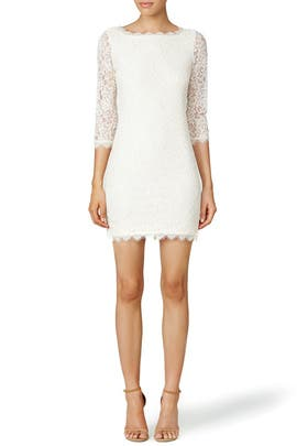 Ivory Zarita Dress by Diane von Furstenberg