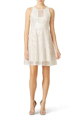 White Shimmer Shine Dress by Nanette Lepore
