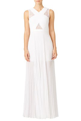 White Caia Gown by BCBGMAXAZRIA