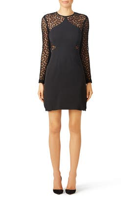 Manhattan Dot Dress by Lela Rose