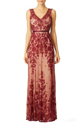 Red Amira Gown by CATHERINE DEANE